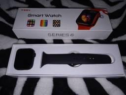 Smartwatch T55+ preto com 2 pulseiras