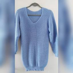 blusa de tricô - veste até o tamanho 44