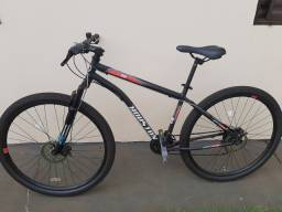 Bike aro 29 21 marchas freio a disco nota fiscal e manual