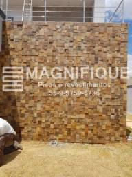Pedra Luminárias Ferrugem Revestimento Natural Parede Promoçã
