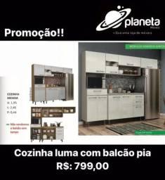 Cozinha Luma com Balcão Pia