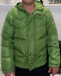 Casaco Hollister Verde Original Super Quente - Tamanho: S (small) ou P