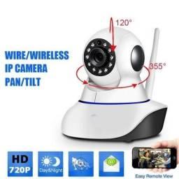 Monitoramento Espião Câmera Ip Led Ir Wifi Hd Panorâmica 340º no Celular