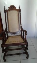 Cadeira de balanço da vovó Original toda em madeira