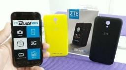 "Celular Zte Blade L110, Tela 4"" Android QuadCore,03 capas Colorida(Lacrado)"
