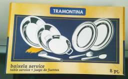 Jogo de Baixelas Inox (8 Peças) Tramontina