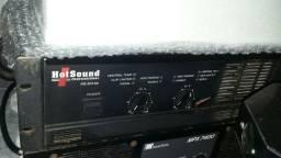 Potencia hotsound 3000 rms 2 ohms som profissional