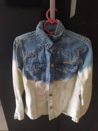 Blusa jeans tamanho 4