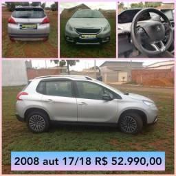 Peugeot 2008 1.6 flex automatica 17/18 R$ 52.990,00 - 2018