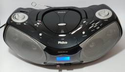 Som Portátil Stereo Philco PH229 CD-RW/MP3, USB/SD;MMC Card, Aux, F. de Ouvido - Semi Novo
