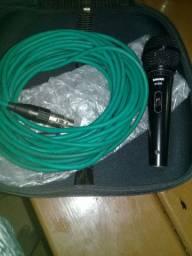 Microfone com fio shure