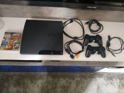 Playstation 3 slim 250 gb + 2 controles originais