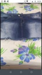 Saia jeans curta Tam 46