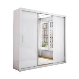 Guarda-roupa branco porta de correr $650,00