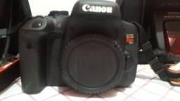 Câmera Canon Rebel T6i C/ 18-55mm + 10-18mm Stm Semi Nova Perfeita