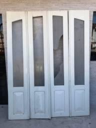 Porta balcão de imbuia (maciça)