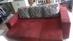 Sofá retrátil, 3 lugares, usado. Entrego