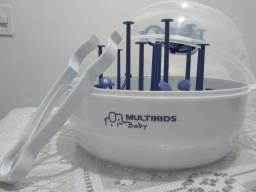 Multikids baby Esterilizador de mamadeiras de microonda super seguro e prático com pinca