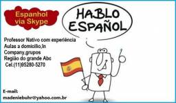 Aulas de Espanhol com professor nativo com experiência