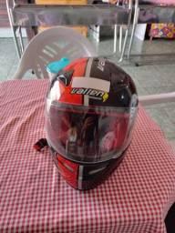 Capacete Vallen 900 preto/ vermelho 58
