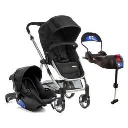 Carrinho de Bebê Travel System Infanti Epic Lite Grey Classic + Base Isofix