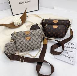 Bolsas femininas (conjunto com 3 peças)