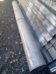 Duto em zinco de 30 cm de diâmetro, X 3,50 mts