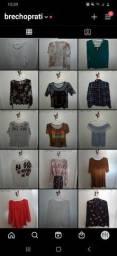 Lote de roupas femininas