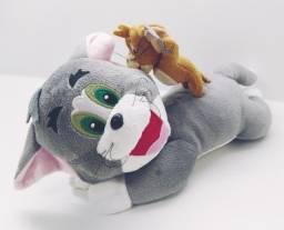 Boneco De Pelúcia Tom E Jerry 30cm Urso Retrô