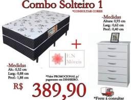 Combo cama box+ cômoda
