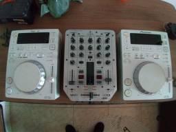 CDJ 350 completa com mixe (ac troc)