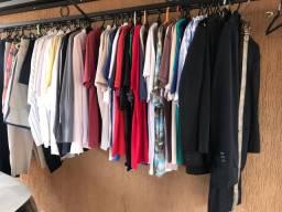 Lote 73 peças de roupas masculinas para bazares e brechós!