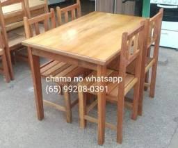 Jogos de mesa de madeira (novos) vários modelos Aparti de 499 reais venha conferir