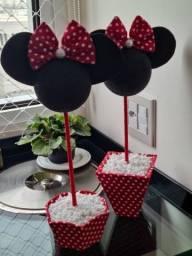Enfeites de mesa Minnie Vermelha