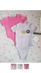 Kit body baby 0 a 3 meses novo