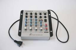 Mesa de som LL Audio Nanomix NA402R - 4 canais bivolt