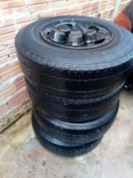 Rodas 15 com pneus para s10 e blazer