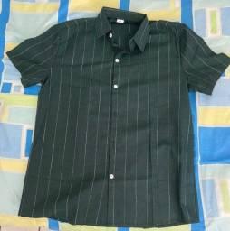 3 camisas de botão manga curta (Shein)