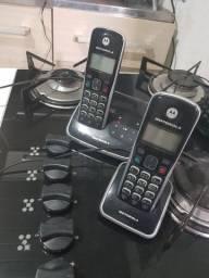 Telefone fixo Motorola c/secretaria eletroniceletrônica a
