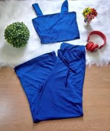 Calça Pantalona + Cropped