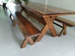 mesas de cedrinho para churrasqueiras