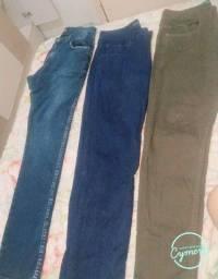 3 calças de marca Masculinas por 200. N.42