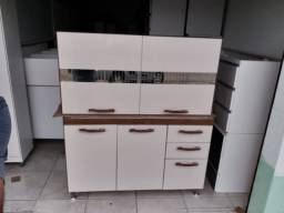 Kit cozinha pia e balcão de pia + aéreo 1,20m