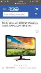 Monitor gamer acer GN246HL 144hz