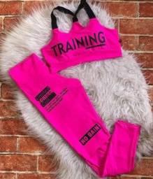 Legging moda fitness Rosa