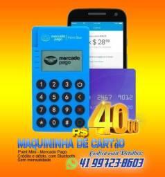 Maquininha de Cartão  - Crédito e Débito - Sem mensalidade