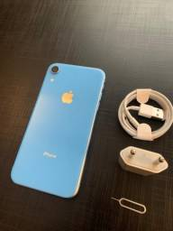 iPhone XR Blue 64gb novíssimo
