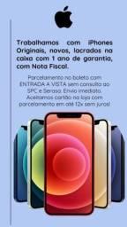 iPhones novos com garantia de um ano.