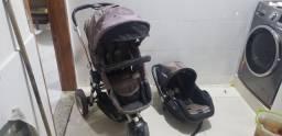 Carrinho de bebê 3 rodas Compass + Bebê Conforto Kiddo