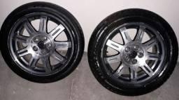 Vendo Rodas Aro 16 ... 5 furos pneus todos bom<br> Valor 1,800.00